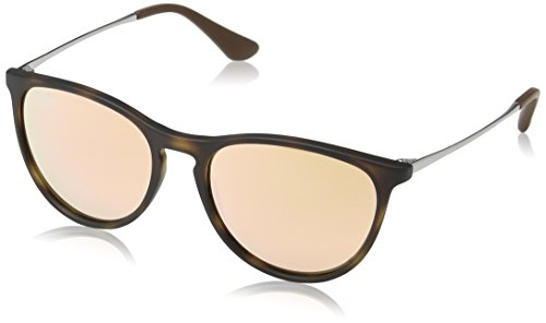 Ray-Ban Junior Women's 0RJ9060S Round Sunglasses, Havana Rubber, 50 - Wayfarer Ray Sunglasses Ban Round