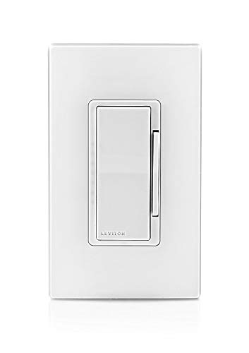Leviton DZ6HD-1BZ Decora Smart 600W Dimmer with Z-Wave Technology, 10-Pack, White/Light Almond, Works with Alexa