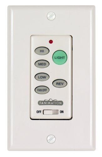 Fanimation Bay - Fanimation C21 Wall Control Fan and Light 3-Speed/Reversing, White, See Image