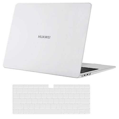 MOSISO Case Only Compatible with Huawei MateBook X Pro 13.9 inch 2020 2019 2018 Release, Protective Plastic Hard Shell Case & Keyboard Cover Skin, Frost