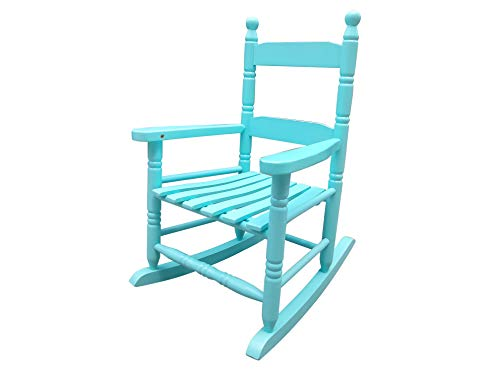 Rockingrocker - K10BU Child's Rocking Chair/Porch Rocker - Indoor or Outdoor - Suitable for 1 to 4 Years Old (Light Blue) ()