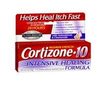 Cortizone-10 Intensive-Healing Formula 2 Ounce (Boxed) (59ml) (2 Pack)