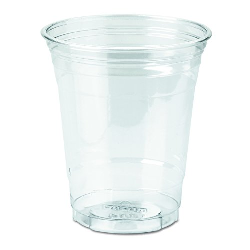 Cup Case Pack (Dixie CP12DX WiseSize PETE Cup, 12 oz Capacity, Clear (Case of 20 packs, 25 cups per pack))