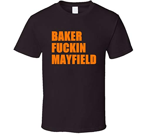 Tshirt Bandits Baker Fckn Mayfield - Playera de fútbol, diseño de Cleveland, Color café Oscuro, Chocolate Scuro, XX-Large