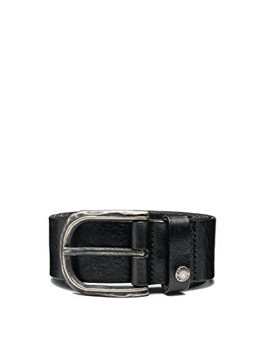 Replay Men's Men's Douglas Leather Black Belt in Size 80 Black by Replay