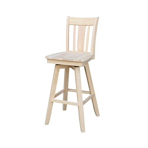 (International Concepts San Remo Barheightstool with Swivel and Auto Return, 30