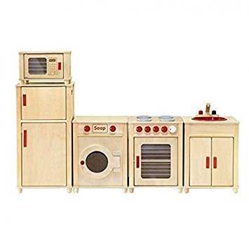 Superieur Viga Kids Wooden Kitchen Set   Fridge/Microwave/Oven/Washing Machine AND  Sink