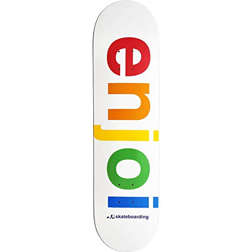 (Enjoi White Spectrum 8.0 Skateboard Deck)
