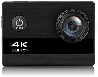 スポーツカメラ コントロールスロータイムラプス写真スポーツDV動画ブログカメラの4K 60fpsのWiFiの防水APPリモート 使用可能 多数バイクや自転車や車に取り付け可能 (Color : Black, Size : One size)