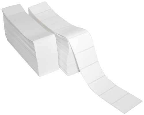 Compulabel Thermal Transfer Shipping Labels, 3 inch x 2 inch, White, Fanfold, Permanent Adhesive, Perforations Between Labels, 5580 Per Stack, 2 Stacks per Carton