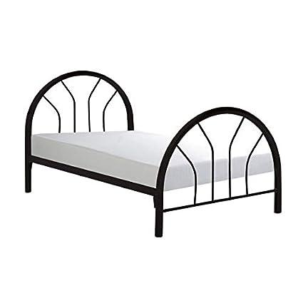 Amazon.com: Black Metal Bed Frame Twin Size Girls Boys ...
