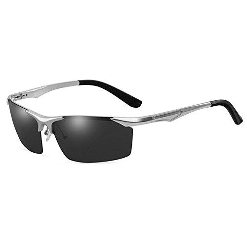Meetyou De De Cuerpo Silver Deportivas Medio De Polarizadas Gafas Sol Pesca Aluminio Gray Magnesio Gafas rxq1wnWfr