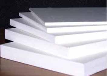 White PVC Foam Board Sheet 1/4' size: 4x8 feet