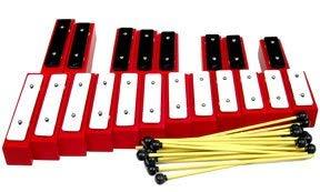 Winston TR121 Set of 20 Resonator Bells, C2-G3 Chromatic with 20 Mallets