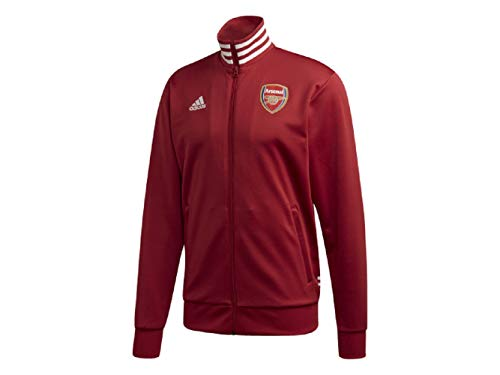 adidas 2019-2020 Arsenal 3 Stripe Track Jacket (Active Maroon) (M) (Best Mens Jackets 2019)