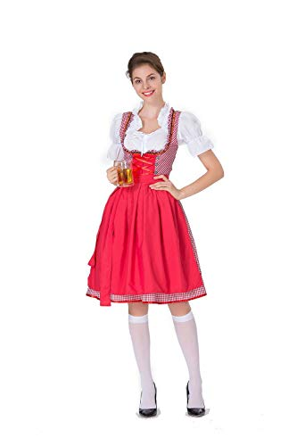 Simmia Halloween Costumes New Beer Girl Dress Stage Costume Maid, 8586, M