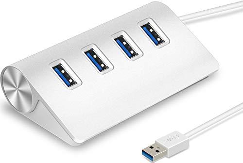 iMounTEK 4-Port USB 3.0 Data Transmit Hub. 5Gbps Aluminum Portable Hub for MacBook, Mac Pro/Mini, iMac, Surface Pro, XPS, Notebook PC, USB Flash Drives, Mobile HDD, iPhone, iPad, Galaxy Series, More ()
