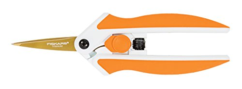 Fiskars 190520-1001 Titanium Micro-Tip Easy Action Scissors, 5 Inch, - Cut Edged Vinyl