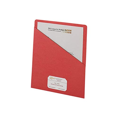 Smead Slash File Jackets Convenience Pack, 9 1/2 x 11 3/4, Red, Pack of 25