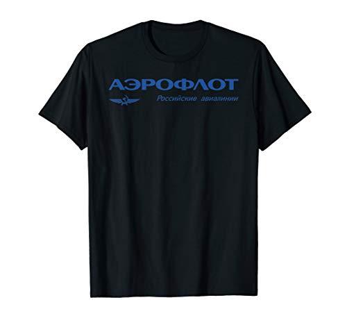 Vintage Russian Airline Aeroflot  T-Shirt