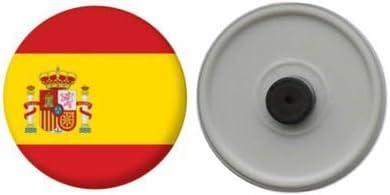 MadAboutFlags Imán del refrigerador bandera España con escudo de armas - 58mm: Amazon.es: Hogar