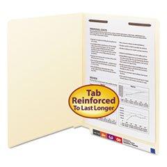 (6 Pack Value Bundle) SMD34110 Heavyweight Folders, One Fastener, End Tab, 11 Point, Letter, Manila, - End Heavyweight Manila