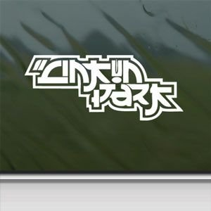 Linkin Park Cool Rock Band Logo White Sticker Decal Car Window - Cool car window decals