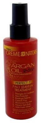 Creme Of Nature Argan Oil Leave-In 7-N-1 Treatment 4.23 Ounce (125ml) (3 Pack)