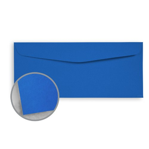 Blue Text 60lb - Astrobrights Blast-Off Blue Envelopes - No. 10 Commercial (4 1/8 x 9 1/2) 60 lb Text Smooth 500 per Box