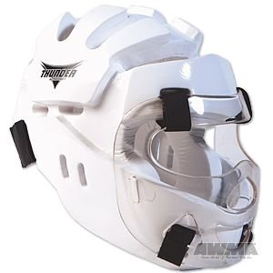 Thunder Proforce Vinyl - ProForce Thunder Full Headgear w/ Face Shield - White - Large