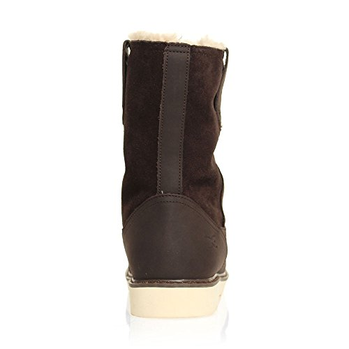 Dude Shoes Mens Vigo Easy Life Brown Leather Work Boot Brown