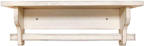 Shelf - Quilt, Towel Rack Buttermilk - Primitive Country Rustic Distressed Wood