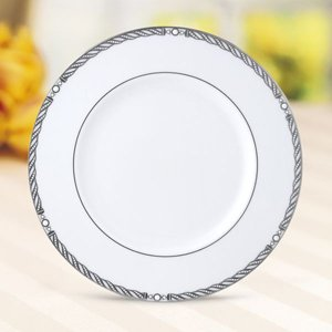 Accents Serpentine - Serpentine Platinum Accent Plate by Lenox China