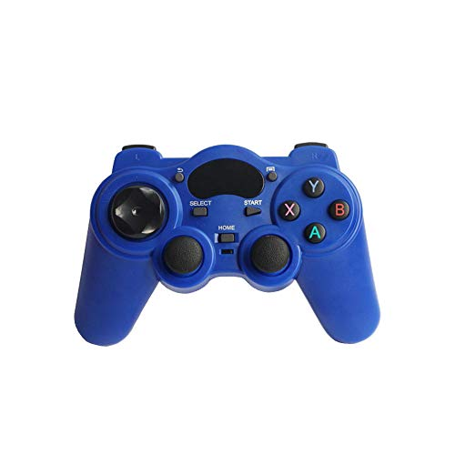 USB Wireless Gaming Controller, Wireless Game Joystick Controller, 2.4G Wireless Gamepad Joystick, Compatible with iPhone iOS/Android Phone/PC Windows/Smart TV/TV Box/ PS3 -Blue