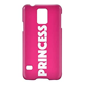 Loud Universe Samsung Galaxy S5 Princess Print 3D Wrap Around Case - Pink/White
