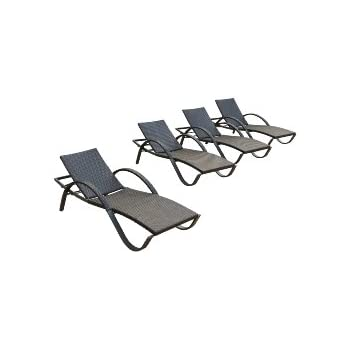 This Item RST Brands Deco Chaise Lounge 4 Pack Patio Furniture