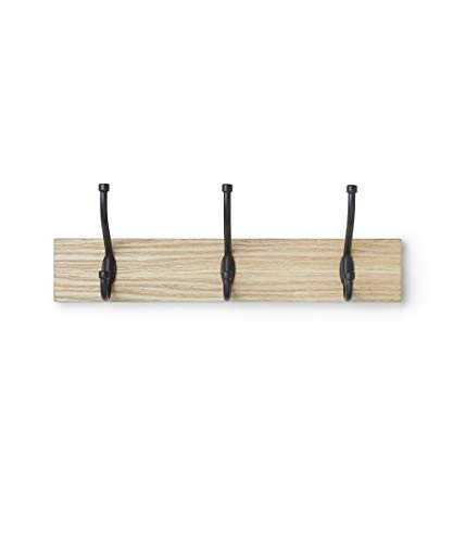 🥇 AmazonBasics – Perchero de madera de pared