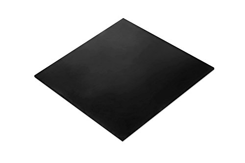 Nitrile Rubber Sheet (NBR) Heavy Duty, Oil Resistant, Hardness Shore A60 Black Smooth, 12x12-Inch 1/8