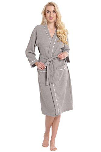 Aibrou Womens Waffle Bathrobe Sleepwear product image