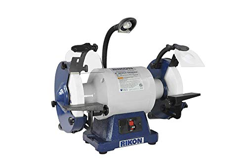 "RIKON Power Tools 80-808 8"" 1 hp Low Speed 1725 RPM Bench Grinder"
