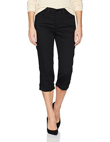 (NYDJ Women's Marilyn Crop Cuff Jean, Black, 8)