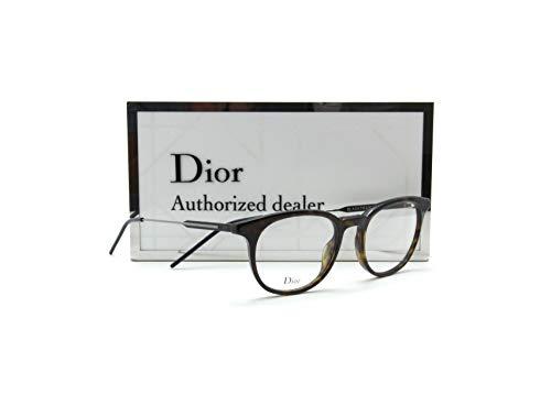 Dior Black Tie 229 Unisex Round Prescription RX Eye-glasses Frame (0TDD), 51mm - Cd Christian Eyeglasses Frame Dior