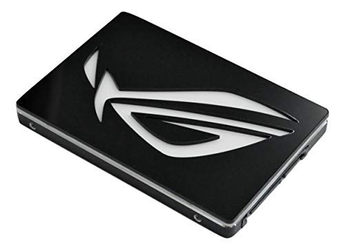 """Savant PCs ROG Logo 2.5"""" Hard Drive (HDD) or Solid State Drive (SSD) Cover (Black and White)"""