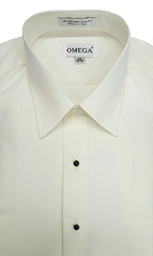 OmegaTux Men's Ivory Microfiber Tuxedo Dress Shirt