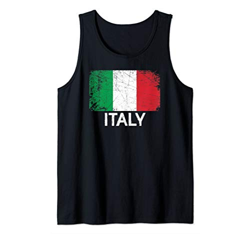 - Italian Flag Design | Vintage Made In Italy Gift Tank Top