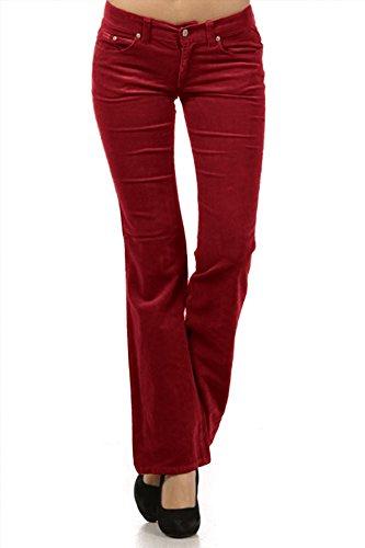 Pocket Bootcut Corduroy Pants - 7