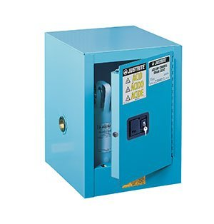 4-gal. Countertop cabinet, manual close - Sure-Grip® EX Blue Steel Countertop Cabinets for Corrosives - R3-890402