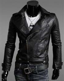 Men's zipper-type turndown collar jacket