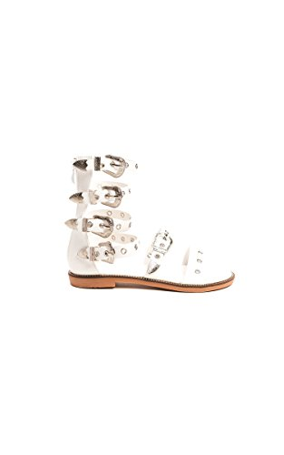 Ikrush Womens Alina Gladiator Strap Studded Sandals White XF6lDf