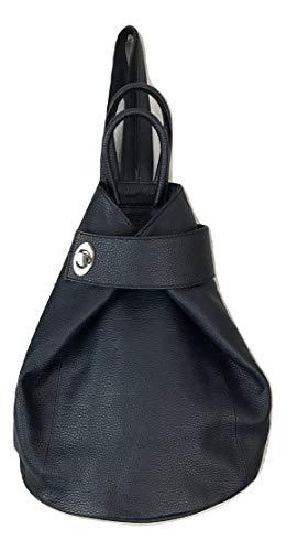 - LaGaksta Stella Italian Leather Fashion Backpack Purse Top-Handle Shoulder Bag Blue